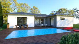 Maison à vendre : CLAIRVAUX LES LACS - Maison contemporaine 4 pièces - 98m carres, Maisons d'en France 01