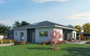 Maison à vendre : HAUTEVILLE-LOMPNES – Jolie maison contemporaine 3 chambres à construire – 95m carres, Maisons d'en France 01