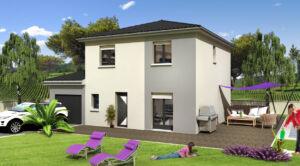 Maison à vendre : HAUTEVILLE-LOMPNES – Jolie maison contemporaine 5 pièces à construire – 120m carres, Maisons d'en France 01