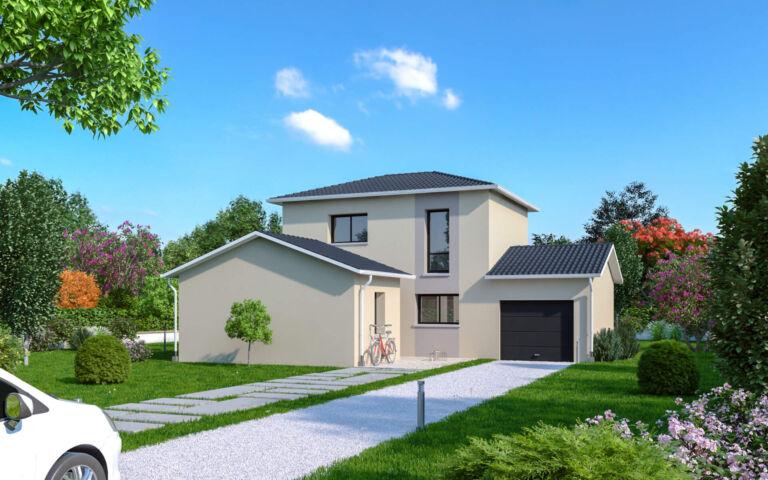 Photo 1 : LONS-LE-SAUNIER – Maison contemporaine 4 pièces – 98m² - Maisons d'en France 01 Oyonnax