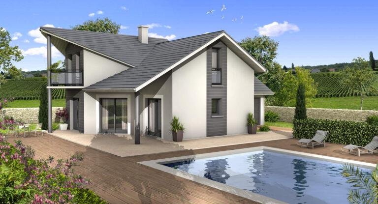 Photo 1 : VIEU-D'IZENAVE – Belle maison contemporaine à étage 5 pièces – 120m² - Maisons d'en France 01 Oyonnax
