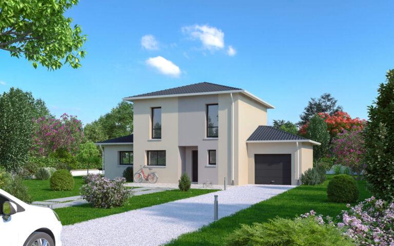 Photo 1 : VIRY – Maison contemporaine 4 chambres 120m² - Maisons d'en France 01 Oyonnax