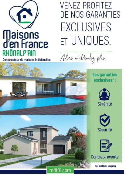 Photo 1 : Nos garanties exclusives - Maisons d'en France 01 Oyonnax